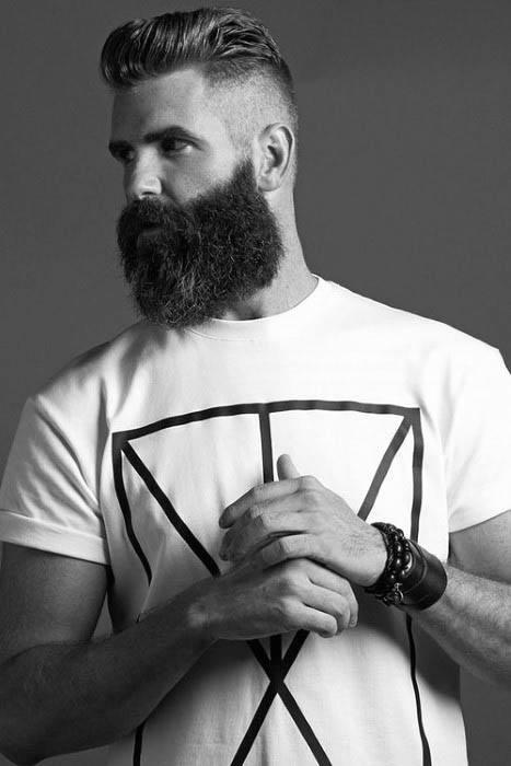 Par scurt pentru barbati, cu barbă, cu o barbă scurtă
